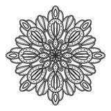 Mandala flower illustration vector stock images