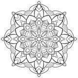 Mandala Flower outline Vintage Oriental pattern, wedding, yoga vector illustration