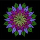 Mandala Flower in shades Royalty Free Stock Images