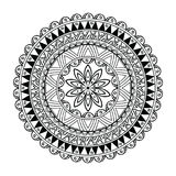 Mandala flower sketch in  Royalty Free Stock Images