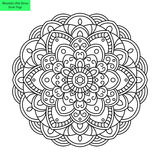 Mandala Flower Vector redonda Fotografía de archivo libre de regalías