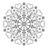 Mandala with flowers for children's entertainment. Royalty Free Stock Image