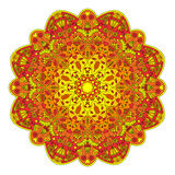 Mandala With Flowers And Insects Stock Foto's