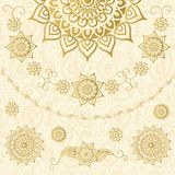 Ornamental pattern in indian style stock illustration