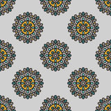 Mandala flowers pattern Royalty Free Stock Photo