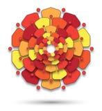 Mandala with flowery petals Stock Photography