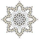 Mandala foliage. Circle  creative  curl deco Royalty Free Stock Photos