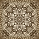 mandala Fond circulaire de modèle de Brown Photo stock