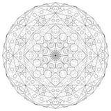 Mandala outline illustration vector illustration