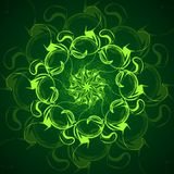 Mandala or fractal abstract background, vector illustration. Mandala or fractal abstract background, vector illustration Royalty Free Illustration
