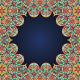 Mandala frame for text in oriental style Royalty Free Stock Images
