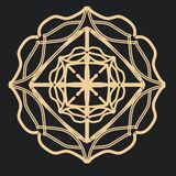 Mandala gótica del cordón para los tatuajes stock de ilustración