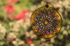 Mandala and garden Stock Photography
