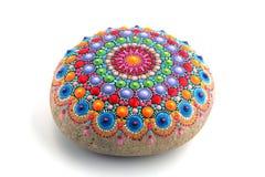 Mandala gemalt auf einem Stein Stockfotografie