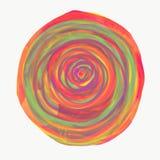 Mandala gemalt mit Aquarell Lizenzfreies Stockbild