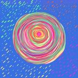 Mandala gemalt mit Aquarell Stockbild