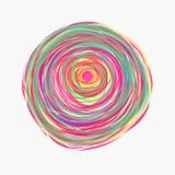Mandala gemalt mit Aquarell Lizenzfreie Stockfotografie
