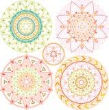 Mandala geométrica en colores en colores pastel Imágenes de archivo libres de regalías