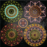 Mandala geométrica en colores en colores pastel Fotos de archivo