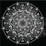Mandala geométrica en fondo Imagen de archivo libre de regalías