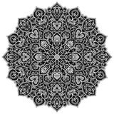 Mandala geometric circle element, black Royalty Free Stock Photography