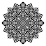 Mandala geometric circle element, black Stock Image