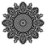 Mandala geometric circle element, black Royalty Free Stock Image