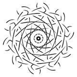 Mandala geometric ornament stock illustration