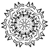 Mandala geometric ornament royalty free illustration