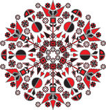 Mandala with geometric patterns. Looks great on clothing, bags, ceramics. Wide range of applications. Stock Photo