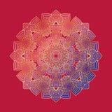Mandala geometric round ornament, circular abstract pattern. Hand drawn decorative vector design element Stock Images