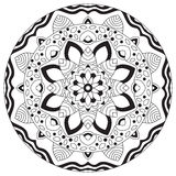 Mandala geometric round ornament,. Tribal ethnic arabic Indian motif, eight pointed circular abstract floral pattern. Hand drawn decorative vector design vector illustration