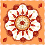 Mandala geometrica Immagini Stock