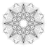 Mandala geometrica complessa Elemento decorativo di progettazione della stella astratta stilizzata royalty illustrazione gratis