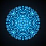 Mandala geometrica dell'occhio Elemento variopinto di disegno Royalty Illustrazione gratis