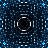 Mandala geometrica dell'occhio Elemento variopinto di disegno Illustrazione di Stock