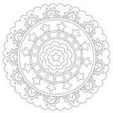 Mandala geometrica di coloritura della stella royalty illustrazione gratis