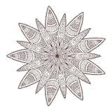 Mandala geometrica ornamentale Progettazione di arte del tatuaggio del fiore Modello dell'ornamento del tappeto Vettore per la pa illustrazione vettoriale