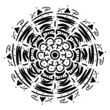 Mandala geometrisch ornament royalty-vrije illustratie