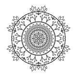 Mandala gezeichnet gemalt zu werden Stockbild