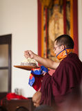 The Mandala gift during the dedication ceremony at Karmapa insti Royalty Free Stock Photo