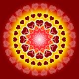 Mandala global d'amour - nous avons un ans Photo libre de droits