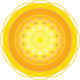 Mandala_gold Stock Images