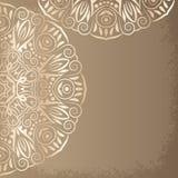 Mandala gold, background vector illustration