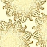 Mandala gold background Royalty Free Stock Images