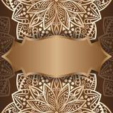 Mandala gold, background. Invitation card royalty free illustration
