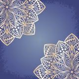 Mandala gold background royalty free illustration