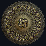 Mandala gold, Fine carv. Round Ornament Pattern. Vintage decorative elements.  Stock Image