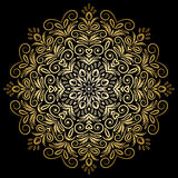 Mandala gold, tribal Royalty Free Stock Photography