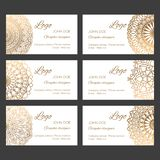 Oriental business cards design templates vector collection stock image